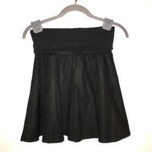 American Apparel Matte Black High Waist Skirt Sz M
